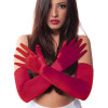 "Red Gloves Opera Satin 23"" 1212"