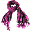 Black And Hot Pink Arab Shemagh Houndstooth Scarf 2075