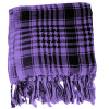 12 PACK Black And Purple Arab Shemagh Houndstooth Scarf WS2078D