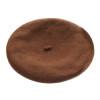 "Brown Wool Beret 22.5"" Standard Adult Size 1362"