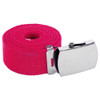 "Hot Pink Canvas Adjustable Belt Adjusts to 44-46"" Size 2213"