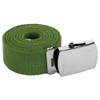 "Military Belt Canvas Adjustable Olive Green Adjusts to 44-46"" Size 2215"