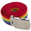 "Rainbow Canvas Adjustable Belt Gay Pride 12 PACK Adjusts to 44-46"" Size  2219"