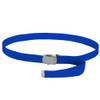 "Royal Blue Canvas Belt Adjustable Adjusts to 44-46"" Size 2221"