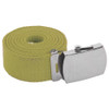 "Tan Canvas Belt Adjustable Military Adjusts to 44-46"" Size 2222"