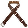 Brown Punk Two Rows Metal Holes Belt 2436-2439
