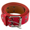 12 PACK Red Punk Two Rows Metal Holes Belts Mix Sizes 2444B