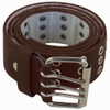 12 PACK Brown Punk Three Rows Metal Holes Belts Mix Sizes 2468A