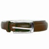Brown Skinny Belt with Rectangle Buckle 2768-2771