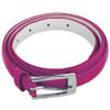 Dark Pink Skinny Belt with Rectangle Buckle 2776-2779