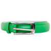 Kelly Green Skinny Belt with Rectangle Buckle 2788-2791