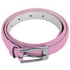 Light Pink Skinny Belt with Rectangle Buckle 2808-2811