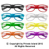 Iconic 80's Style Sunglasses   Clear Lens Sunglasses Adult Size Mixed Colors 1080