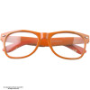 Clear Lens Orange Sunglasses Iconic 80's Style Adult Size Sunglasses 12 PACK 1084
