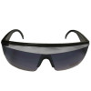 Black with Silver Stripe Lady Diva Sunglasses 1141