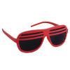 Red Half Shutter Shades Sunglasses 1154