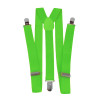 Lime Green Suspenders Elastic Clip On 1284