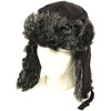 Trooper Trapper Hat Black with Grey Faux Fur 12 PACK 5 + Colors 5830