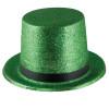 Mardi Gras Glitter Top Hat Green 5871