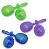 "Glitter Plastic Maracas Mix Colors 12 PACK 1888 5"""