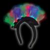 Flashing LED Mohawk Tri Color Headband 1882