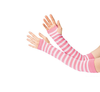 Pink and White Striped Arm Warmer 12540