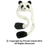 Long Panda Hat with Paws 5865