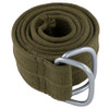 Olive Drab Military D-Ring Canvas Belt 2243
