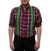 Irish St Patricks Kelly Green Suspenders 6872