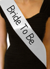 "Custom Pageant Wedding Blank White Satin Quality Sashes 60"" 6853"