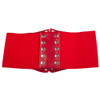Ultra Wide Red Patent Leather Stretch Cinch Belt 2721