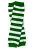 Kids St Patricks Legwarmers   PAIR Green/White Striped 5203 -