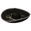 Black/Silver Mini Mariachi Sombrero Hat 6662