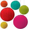(6) Fiesta Cinco De Mayo Paper Lantern Decorations 9055