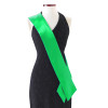 """Custom Pageant Wedding Kelly Green Satin Sashes 60"""" 6856 (Fonts in Picture Gallery)"""