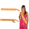 """Custom Pageant Wedding Orange Satin Sashes 60"""" 6857 (Fonts in Picture Gallery)"""