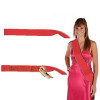 """Custom Pageant Wedding Red Sashes Satin Quality  60"""" 6859 (Fonts in Picture Gallery)"""
