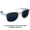White Sunglasses | Iconic 80's Style | 12 PACK ADULT SIZE 1058D