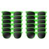 A dozen green wayfarer sunglasses