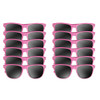 Light Pink Sunglasses Iconic 80's Style Adult 12 PACK 1074D