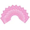 "Light Pink Bandana 22"" Square Standard 100% Cotton 12 PACK 1914D"