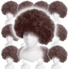 Costume Afro Wig Brown 12 PACK 6019D