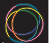 Mix Color Glow Necklaces Tube 50 pcs 12025