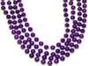 Mardi Gras Beads Purple 12mm Bulk 12 PK 9900