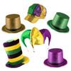 Mardi Gras Hat Assortment 5870ASST 12 PK MIXED