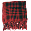 12 PACK Black And Red Arab Shemagh Houndstooth Scarf 12 PK WS2080D