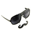 Black Mustache Shutter Shades Sunglasses 7403