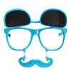 Flip Up Sunglasses Mustache Sunglasses Blue 7400