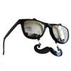 Flip Up Mustache Sunglasses Black 7402