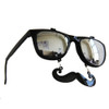 Flip Up Mustache Sunglasses Black 12PK WS7402